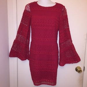 NWT Rebecca Minkoff Red Eyelet Lace Dress Size 00